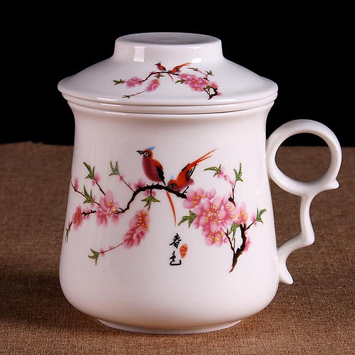Lovebirds Porcelain Cup