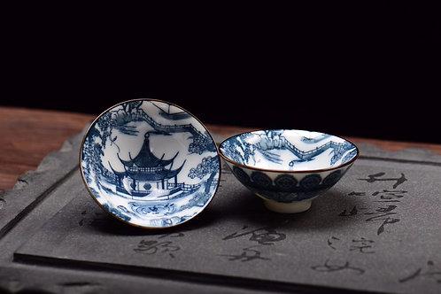 Pagoda Porcelain Teacup