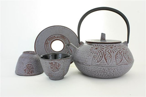 Lilac Cast Iron Tea Set