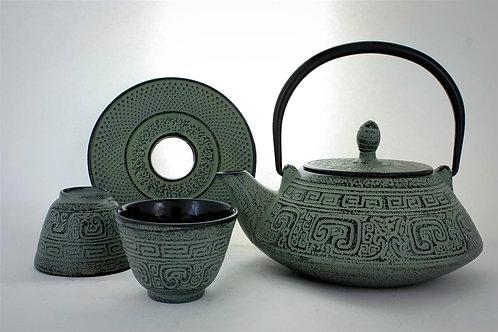 Ashen Green Cast Iron Tea Set