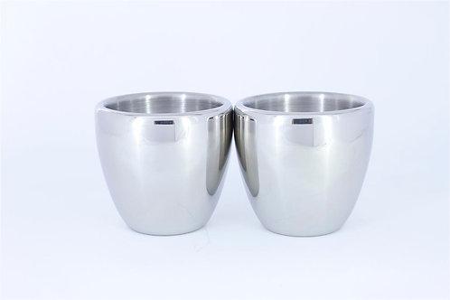 Stainless Steel Teacups (100 ml)