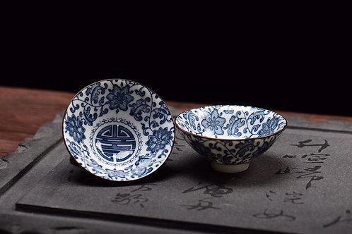 Lotus Longevity Porcelain Teacup