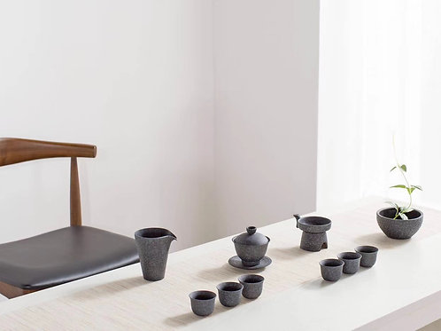"Charcoal ""Gung Foo Cha"" 10 Piece Tea Set"