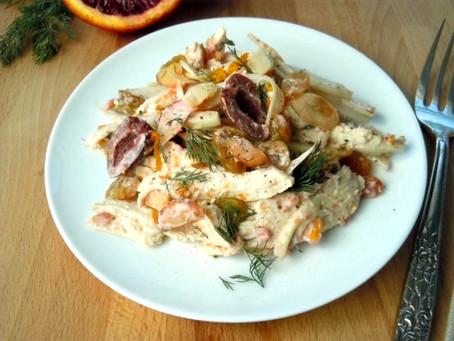 Winter Citrus Chicken Salad with Creamy Blood Orange Dressing