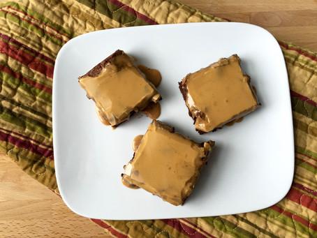 Mocha Brownies with Espresso Dulce de Leche Glaze