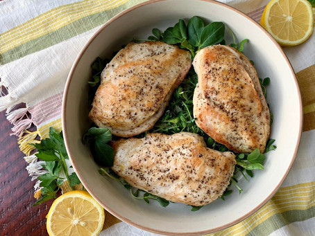 Olive Feta Stuffed Chicken with Local Greens
