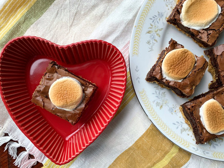 S'more Brownie Bars with Toasty Marshmallows