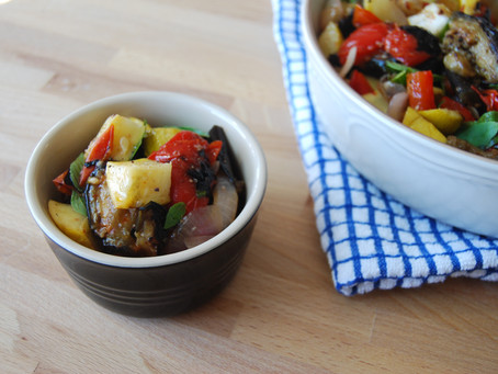 Grilled Ratatouille with Local Summer Cherry Tomato Ragù