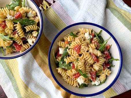 Lemony Pasta Salad with Fresh Ricotta and Arugula