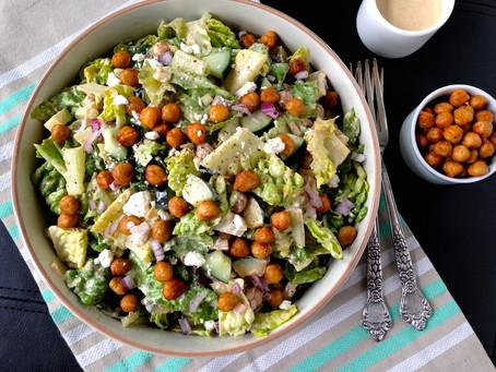 Chopped 'Hummus' Salad with Smoky Tahini Dressing