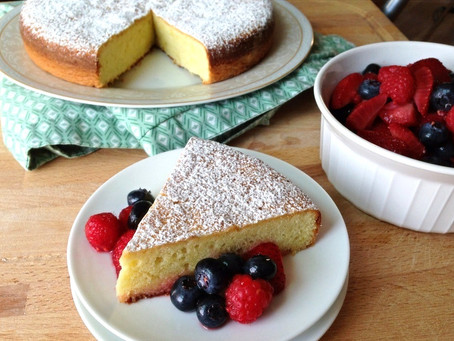 Olive Oil Cake with Macerated Fresh Fruit