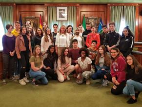 Recepción en el Ayuntamiento del alumnado de Intercambio con el Instituto Albertus Magnus de Colonia