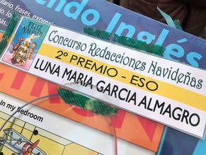 Luna García premiada en el concurso de redacciones navideñas municipal