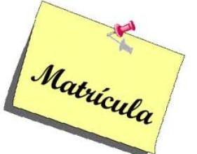Periodo de Matriculación extraordinaria 6 y 7 de Septiembre de 10h a 13h