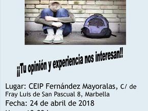 """Próxima charla Escuela de Familias: """"Las repercusiones del fracaso escolar"""""""