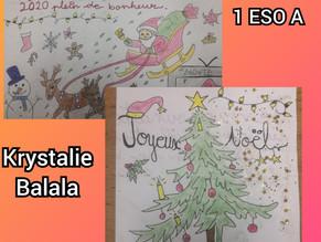 Ganadoras del Concurso de Postales navideñas en Francés