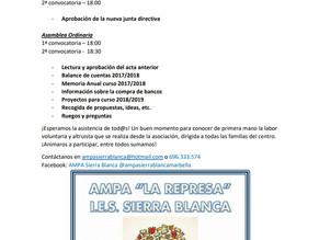 Asamblea General extraordinaria y ordinaria AMPA