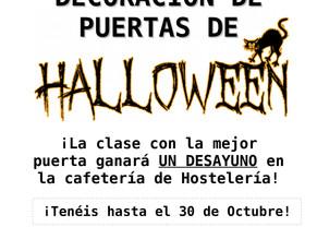 Participa en el Concurso de Puertas de Halloween