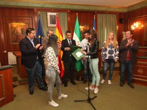 El alcalde recibe al alumnado del IES Sierra BLanca y centros educativos de Francia, Austria, Grecia