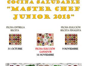 """II Concurso de Cocina Saludable """"Master chef Junio 2018"""""""