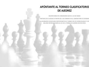 Apúntate al Torneo clasificatorio de Ajedrez