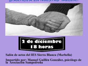 Próximo 2 de diciembre taller de comuniciación. Escuela de familia