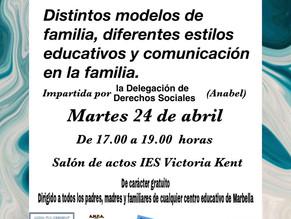"""Charla Escuela de Familias: """"Distintos modelos de familia, diferentes estilos educativos"""""""