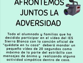 Instrucciones participación vídeo alumnado y familias