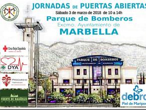 Jornadas de Puertas abiertas en el Parque de Bomberos para promocionar la campaña espacios educativo