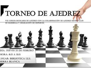 Torneo de Ajedrez VIII Edición de Juegos escolares
