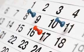 Calendario solicitudes admisión curso 2020-2021