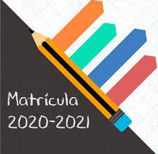 Calendario matriculación Curso 2020-2021