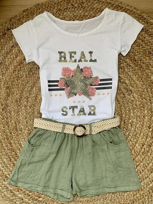 T SHIRT REAL STAR