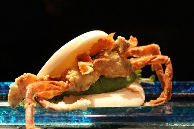 Softshell crab bun_#agamisushi#sushi#uptown#chicago#bestsushi#opentable#chicagosushi#softshellcrab#b