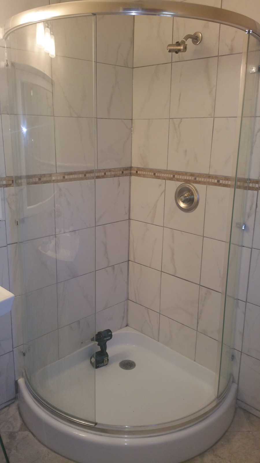 Semi Circle Stand Up Shower