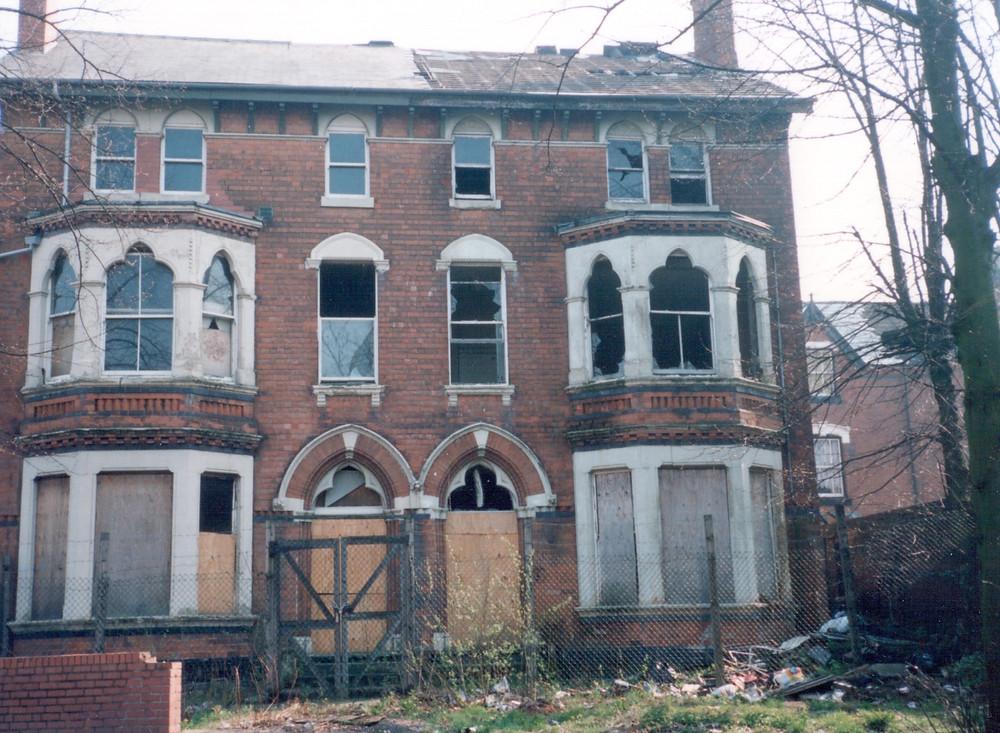 Derelict house Handsworth Birmingham