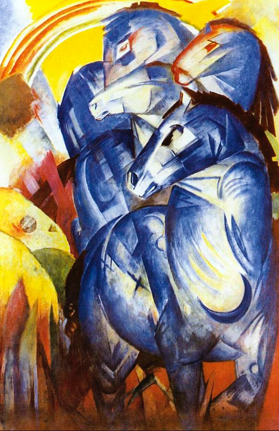 Franz Marc The Tower of Blue Horses