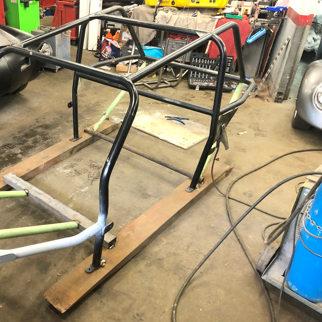 Anchoring Roll Cage prior to Welding