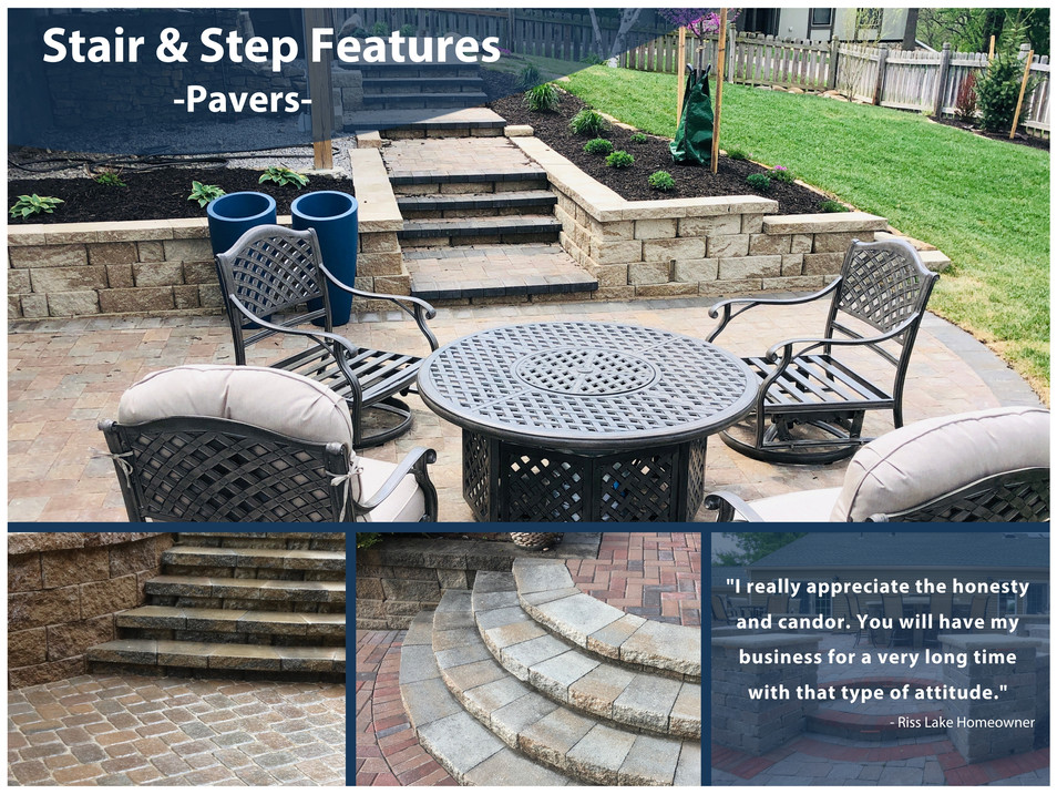 Paver Stair and Step Features