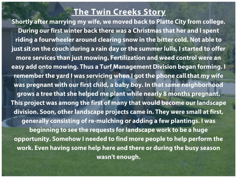 Twin Creeks Story Part 2