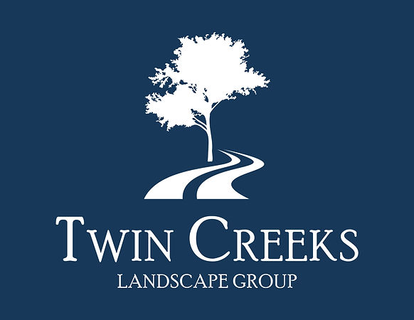 Twin Creeks Landscape Group Logo Blue Ba