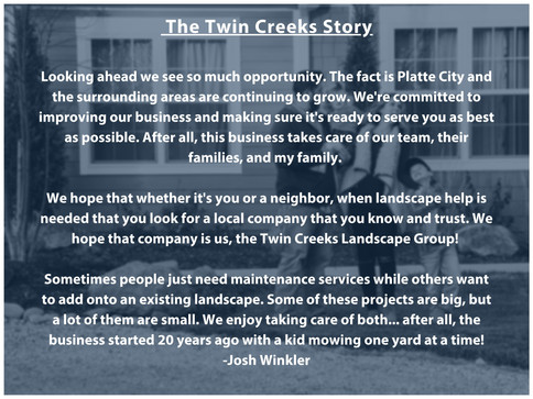 The Twin Creeks Story Part 5