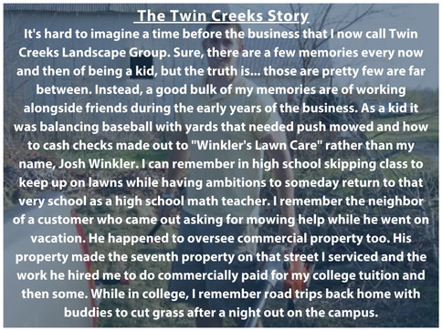 The Twin Creeks Story Part 1