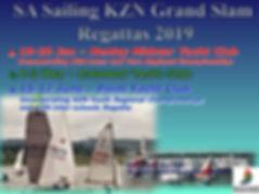 SAS KZN GRAND SLAM REGATTA 2019 poster c