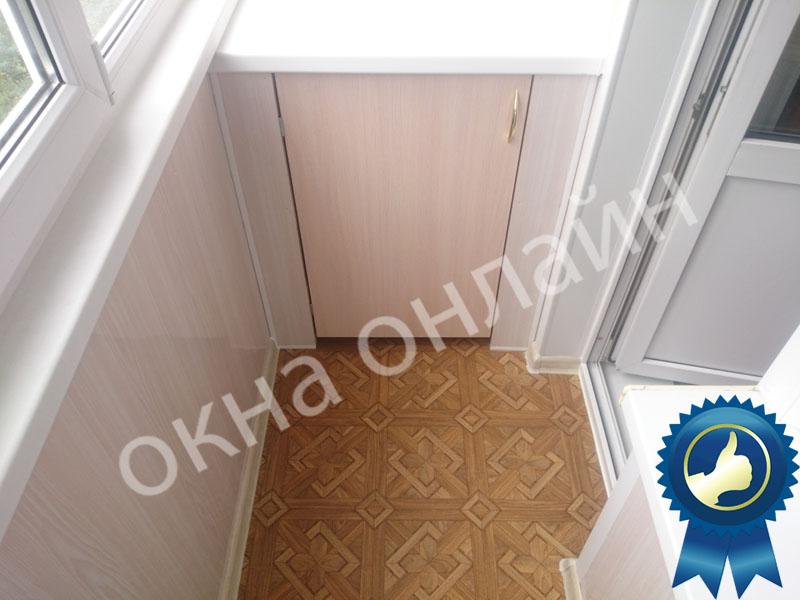 Обшивка балкона ПВХ панелью 17.8
