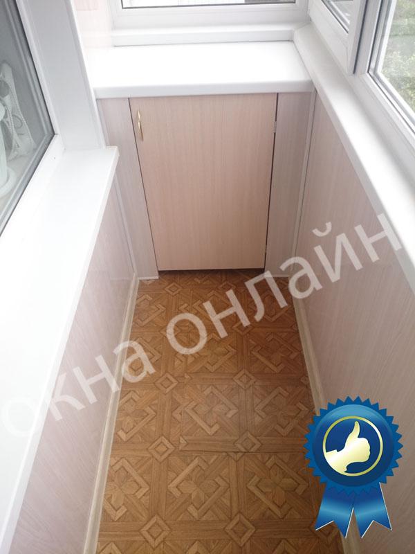 Обшивка балкона ПВХ панелью 17.13