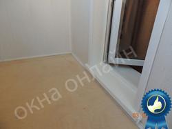 Обшивка балкона МДФ панелью 15.3