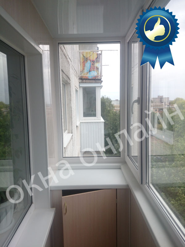 Обшивка балкона ПВХ панелью 17.11