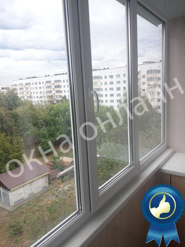 Обшивка балкона ПВХ панелью 17.2