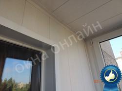 Обшивка балкона МДФ панелью 15.4